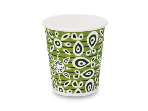 発泡断熱紙コップ・ティーダ(緑) 8オンス